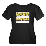 Super martina Women's Plus Size Scoop Neck Dark T-