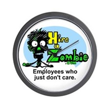 Zombies Don't Care Wall Clock