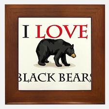 I Love Black Bears Framed Tile