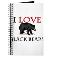 I Love Black Bears Journal
