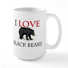 I Love Black Bears Mug
