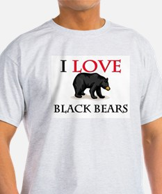 I Love Black Bears T-Shirt