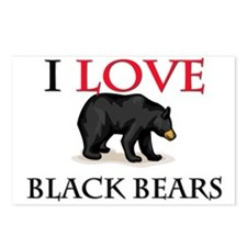 I Love Black Bears Postcards (Package of 8)