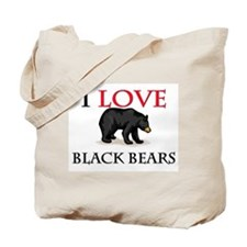 I Love Black Bears Tote Bag