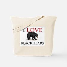 I Love Black Bears Tote Bag