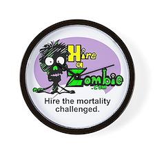 Funny Zombie Job Hire Wall Clock