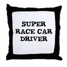 SUPER RACE CAR DRIVER Throw Pillow