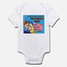 Country First! Vote McCain/Pa Infant Bodysuit