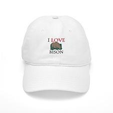 I Love Bison Baseball Cap