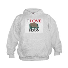 I Love Bison Hoodie