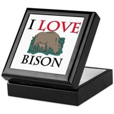 I Love Bison Keepsake Box