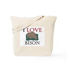 I Love Bison Tote Bag