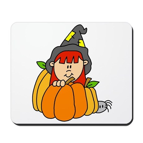 Lil' Witch Pumkin Patch Mousepad