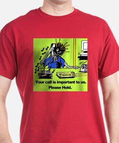 Zombie Stuck On Hold T-Shirt