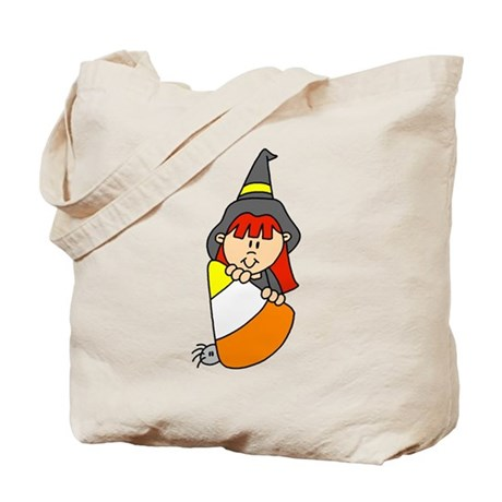 Candy Corn Witch Tote Bag