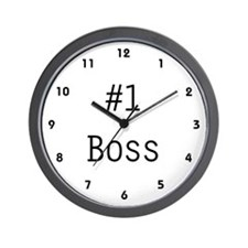 #1 Boss Wall Clock
