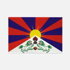 Flag of Tibet Rectangle Magnet