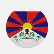 Flag of Tibet Ornament (Round)
