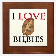 I Love Bilbies Framed Tile