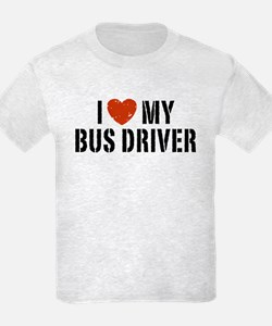 I Love My Bus Driver T-Shirt