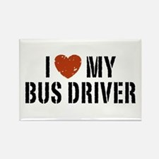 I Love My Bus Driver Rectangle Magnet