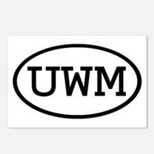 UWM Oval Postcards (Package of 8)