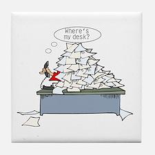 Office Humor Tile Coaster