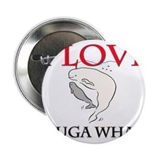 """I Love Beluga Whales 2.25"""" Button (10 pack)"""