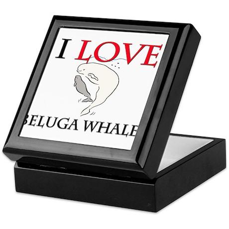 I Love Beluga Whales Keepsake Box