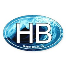 Holden Beach HB Euro Oval Decal Oval Decal
