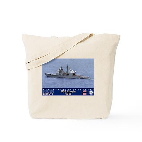 USS Chosin CG-65 Tote Bag