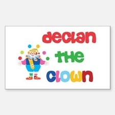 Declan - The Clown Rectangle Decal