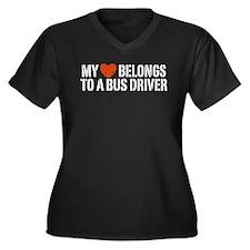 My Heart Belongs to a Bus Driver Women's Plus Size