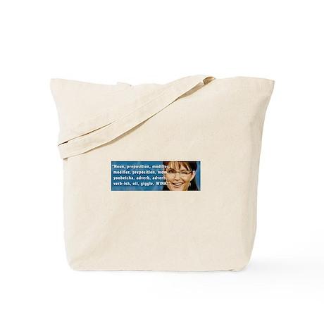 Sarah Palin Winks Tote Bag