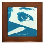 Chain Eye Blue Framed Tile
