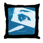 Chain Eye Blue Throw Pillow