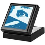 Chain Eye Blue Keepsake Box