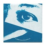 Chain Eye Blue Tile Coaster
