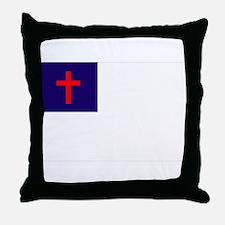 Christian Flag Throw Pillow