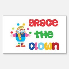 Grace - The Clown Rectangle Decal