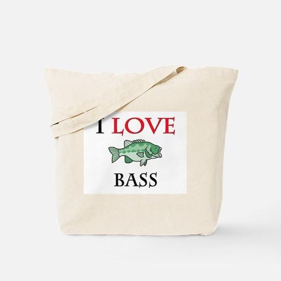 I Love Bass Tote Bag