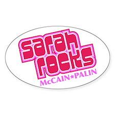 Sarah Rocks Oval Decal