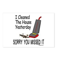 HOUSE CLEANING Postcards (Package of 8)
