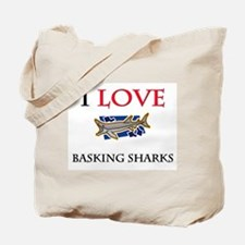 I Love Basking Sharks Tote Bag