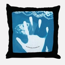 Reaching Blue Throw Pillow