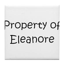 Funny Name eleanor Tile Coaster