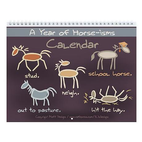 Horse-isms Any Year Wall Calendar