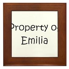 Cool Emilia Framed Tile