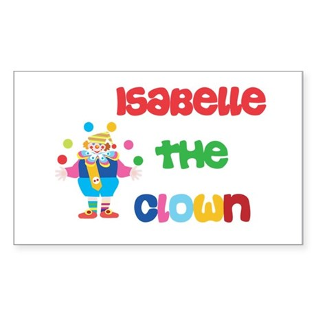 Isabelle - The Clown Rectangle Sticker