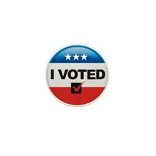 I Voted Button Mini Button (10 pack)